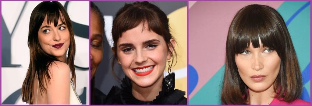 Dakota Johnson, Emma Watson o Bella Hadid salvadas por un buen flequillo- Tendencias de peinados para 2019