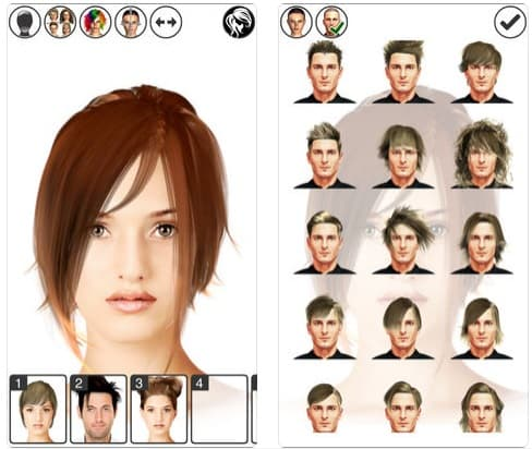 App Hairstyle Magic Mirror Lite peinadosde10