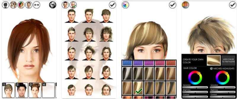 App Hairstyle Magic Mirror Lite