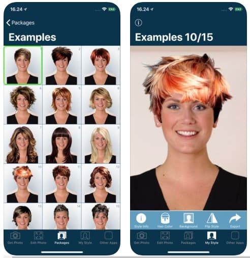 App Hairstyle Try On peinadosde10