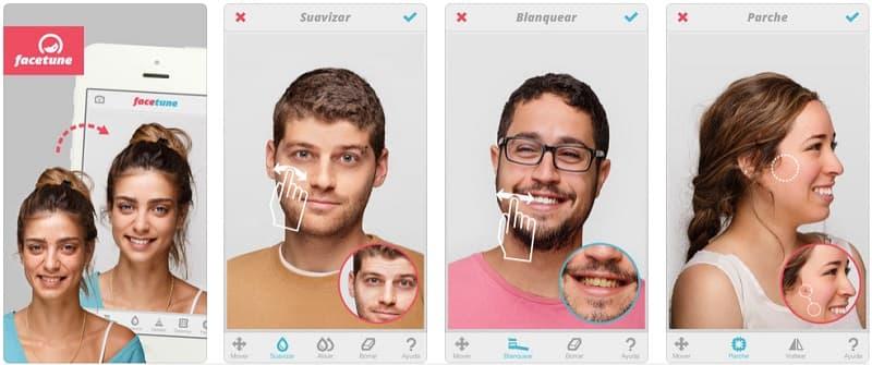 Facetune app maquillaje