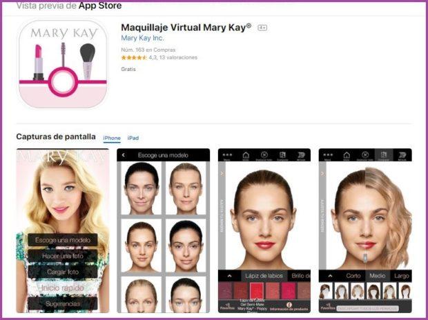 App Maquillaje Virtual Mary Kay®- 9 apps de maquillaje que triunfan en 2019