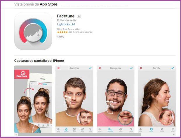 Facetune un photoshop muy sencillo- 9 apps de maquillaje que triunfan en 2019