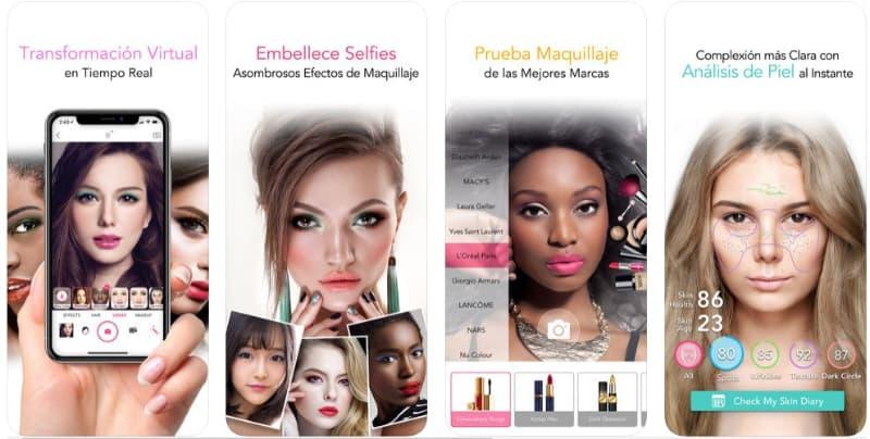 YouCam Makeup en peinadosde10