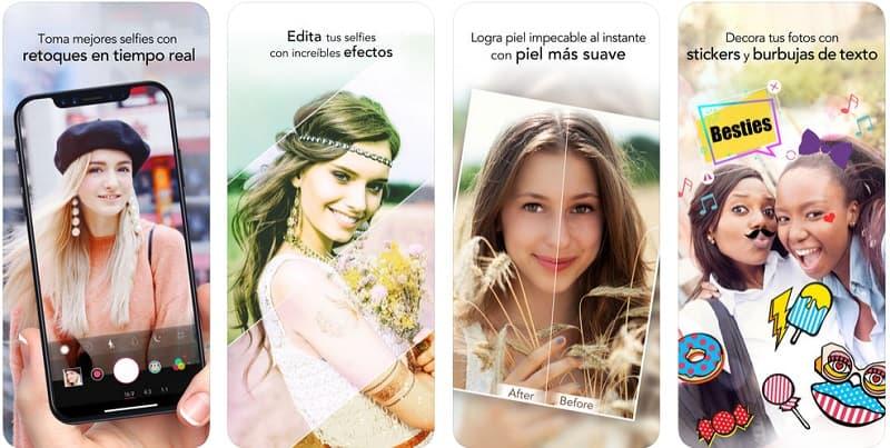 YouCam Perfect app maquillaje peinadosde10