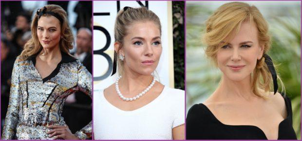 Karite Kloss, Sienna Miller o Nicole Kidman llevan grandes lazos- Accesorios de pelo para bodas en primavera