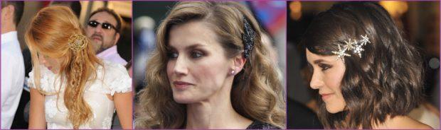 Los grandes pasadores y horquillas hacen aun más elegantes a Blake Lively, La Reina Letizia o Nina Debrev- Accesorios de pelo para bodas en primavera