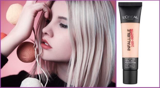 Infalible 24h mat de l´Oreal Paris, matificante a buen precio- Las 5 mejores bases de maquillaje para piel grasa