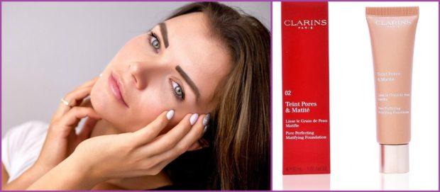 Teint Pores & Matité de Clarins, con arcilla roja, para atacar a la grasa- Las 5 mejores bases de maquillaje para piel grasa