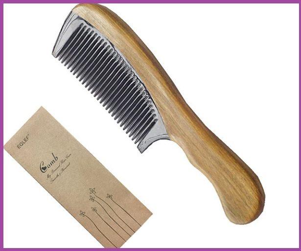 EQLEF® Peine de madera de sándalo- Los 5 mejores peines para pelo largo