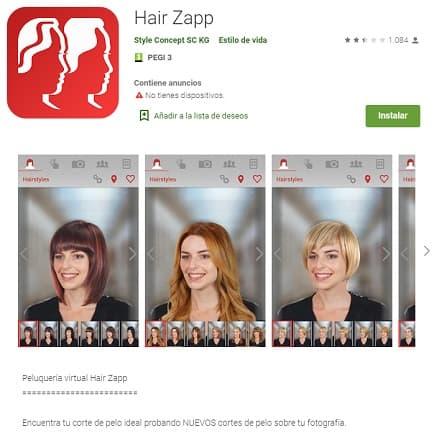 Hair Zapp Apps belleza mujer Peinadosde10