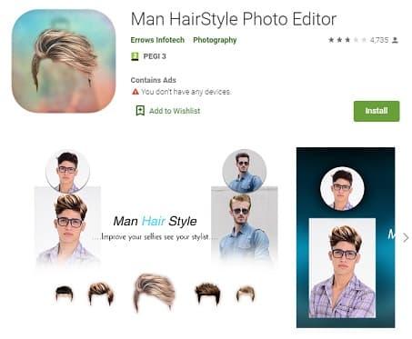 Man Hairstyles Photo Editor Android Peinadosde10